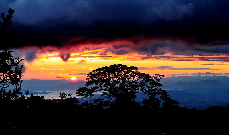 Sunset from Monteverde Cloud Forest, Costa Rica