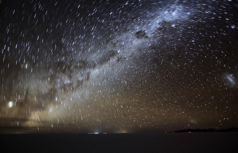 Milkyway over Salar Uyuni