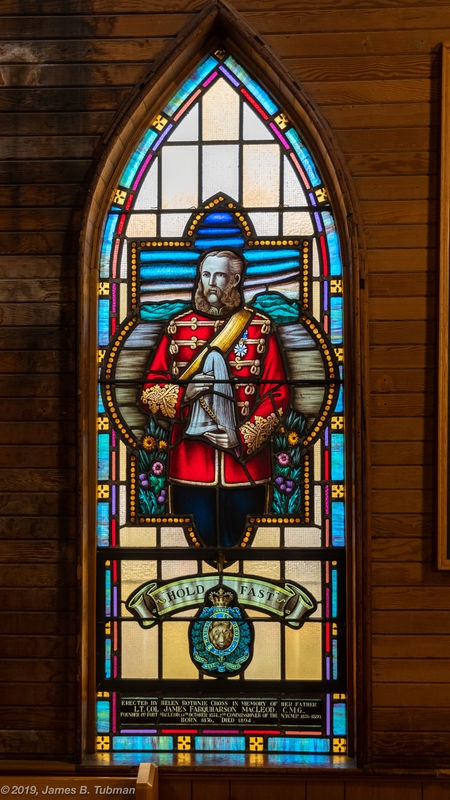 Lt. Col. James Macleod, NWMP, stained glass window