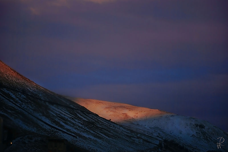 twilight in mountains