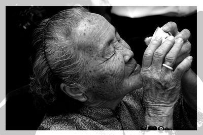 Grandma drinking Tea