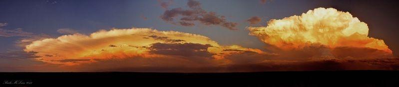 Thunder Heads at sunset Colorado