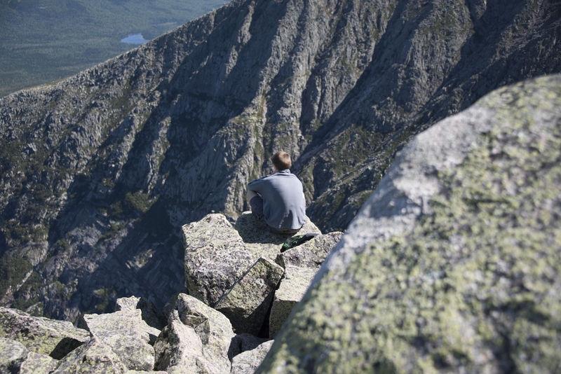 On the Ledge - Summit of Mount Katahdin