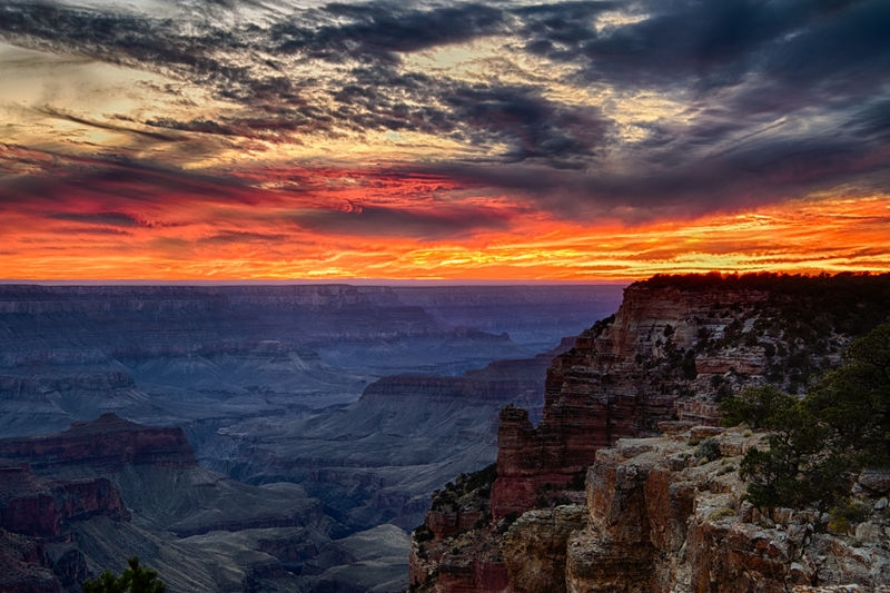 Sunset on the North Rim HDR