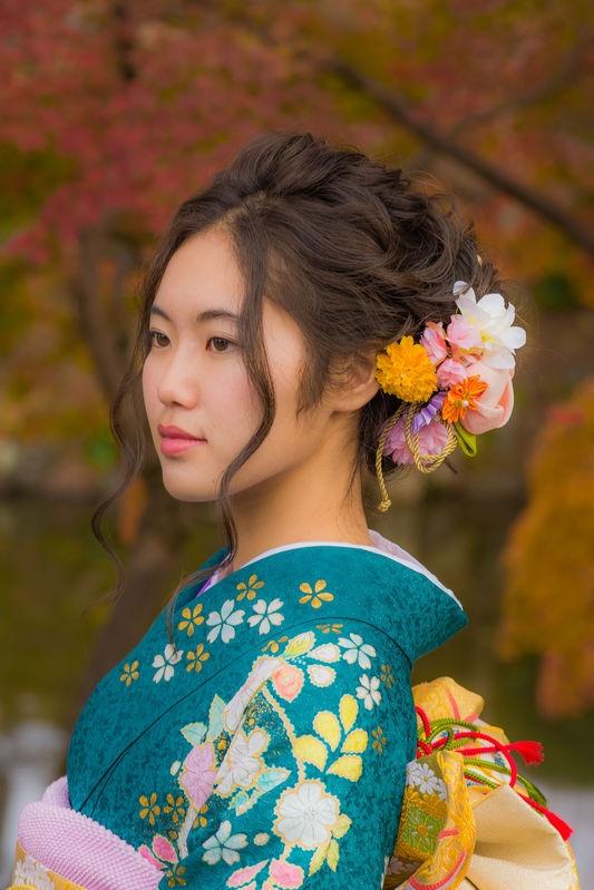 Kyoto Autumn Girl
