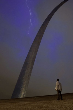 This was shot in a storm that moved through St. Louis earlier this year.  I positioned my D700 on a tripod and triggered it remotely while standing very still.