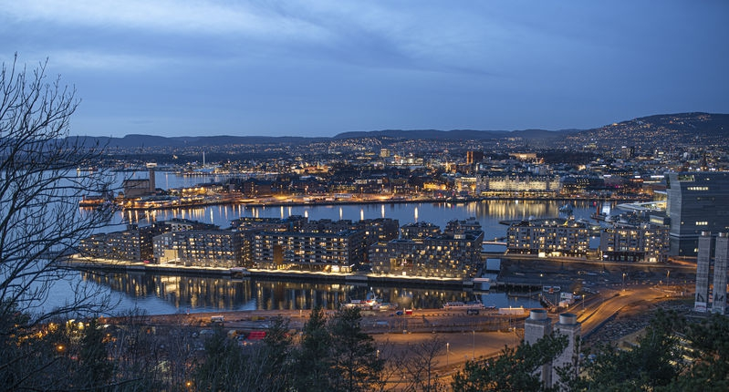 Oslo in the 'blue hour'