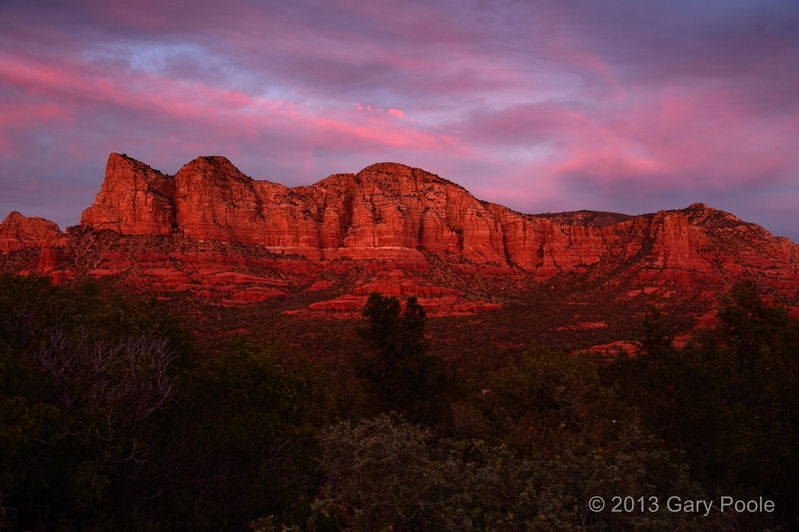 Sunset on Gibralter and Lee Mtn.