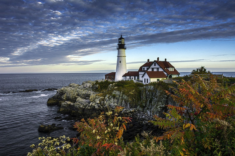 Portland Lighthouse in October