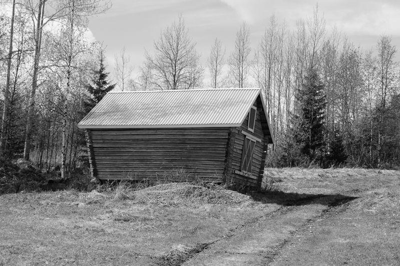 Old building in Korpilombolo, Sweden