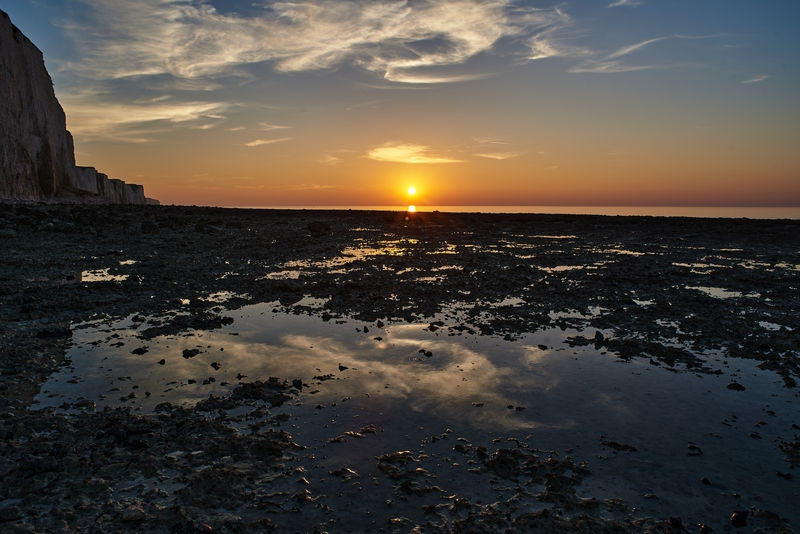 Somme bay, sunset