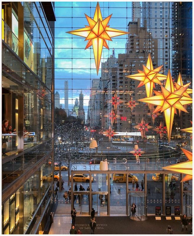 Holiday Colors on Columbus Circle