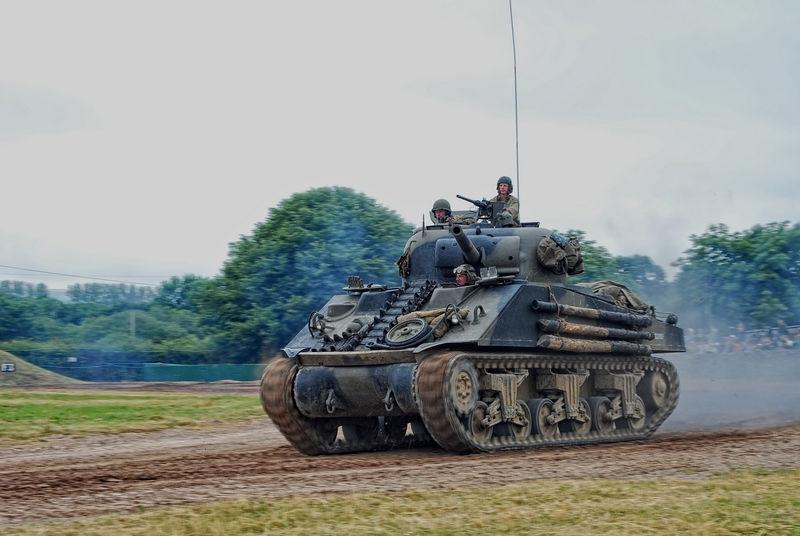 Sherman at full speed