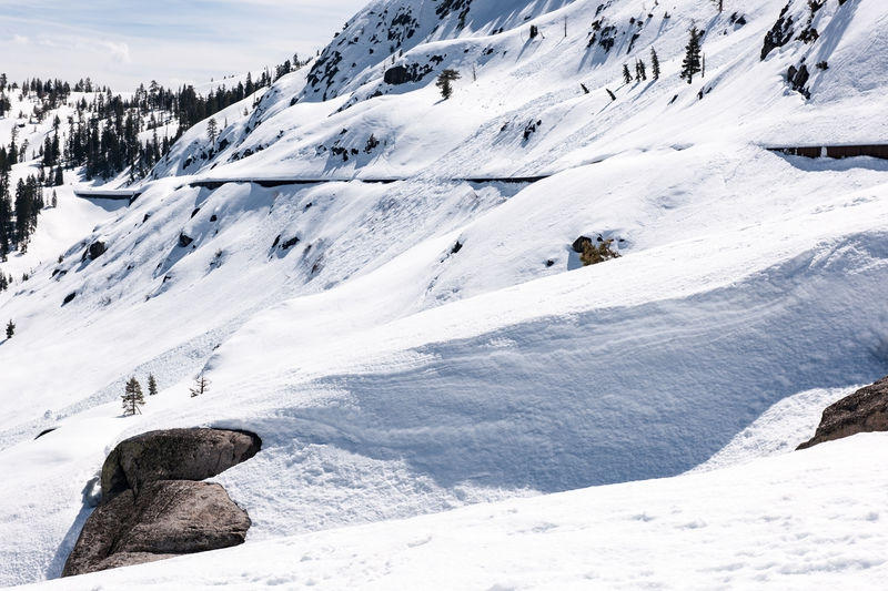 Donner Summit, Snowsheds and Snow