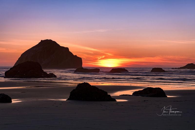 Face Rock at Sunset