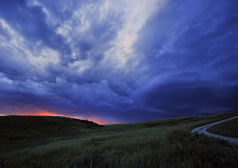 Sunset Storm over Nose Hill