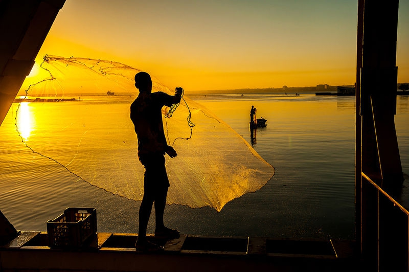 Throw Net Fishing