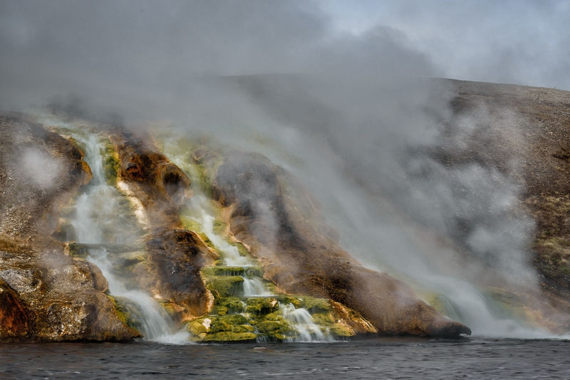 Midway Geyser Basin runoff into Firehole River