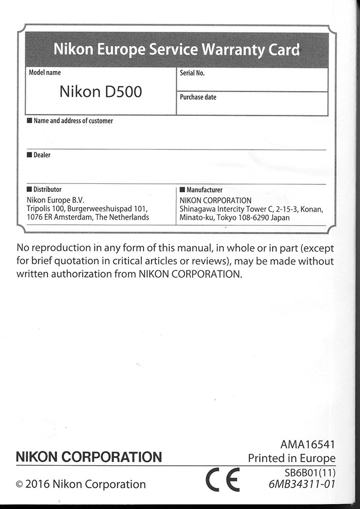 Nikon D5600 Instruction Manual
