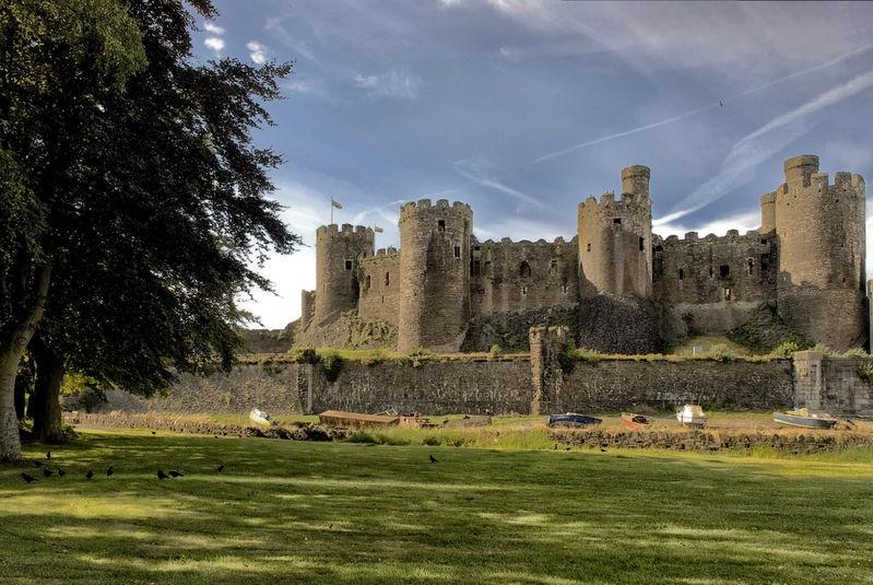 Conwy Castle, Conway, North Wales, ENGLAND.