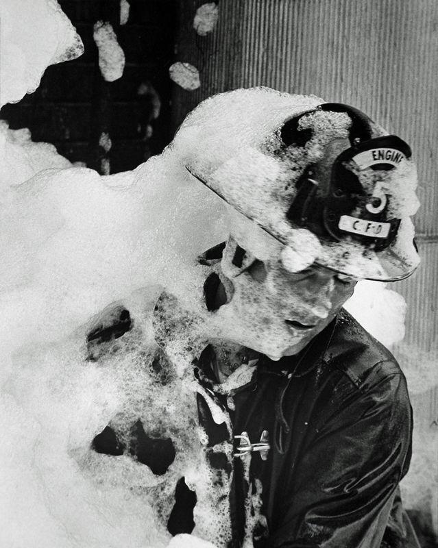 Smothered fireman