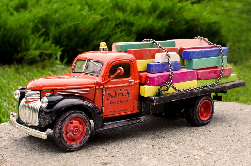 The Old Pastel Delivery Truck