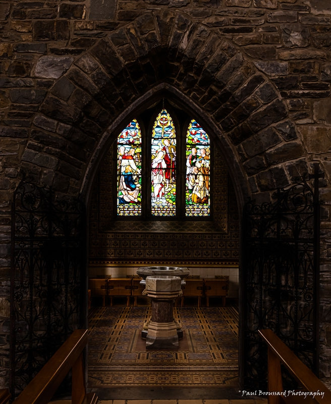 Relective light images from St. Mary's Cathedral, Kilarney, Ireland