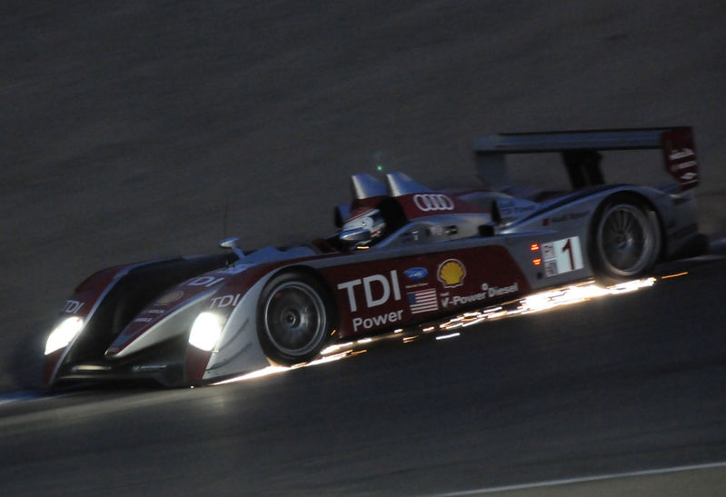 2008 ALMS; Audi Exiting The Corkscrew