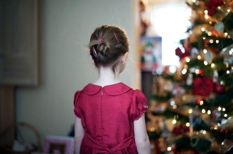 Gazing at the Tree (Christmas Bokeh)