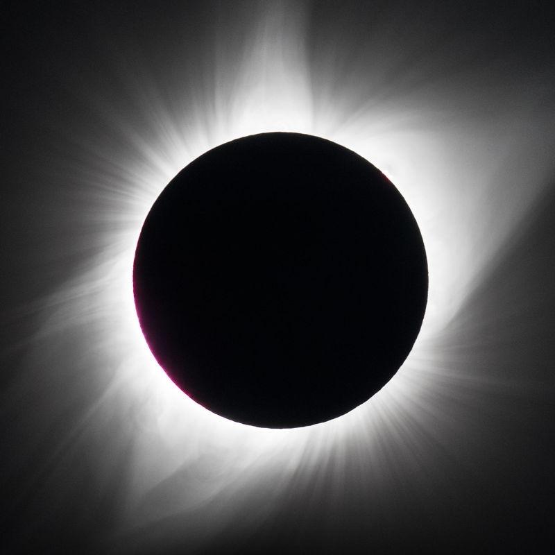Eclipse shot in Agate Nebraska