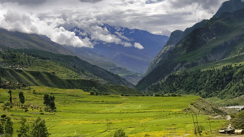 Route from Kelong to Manali