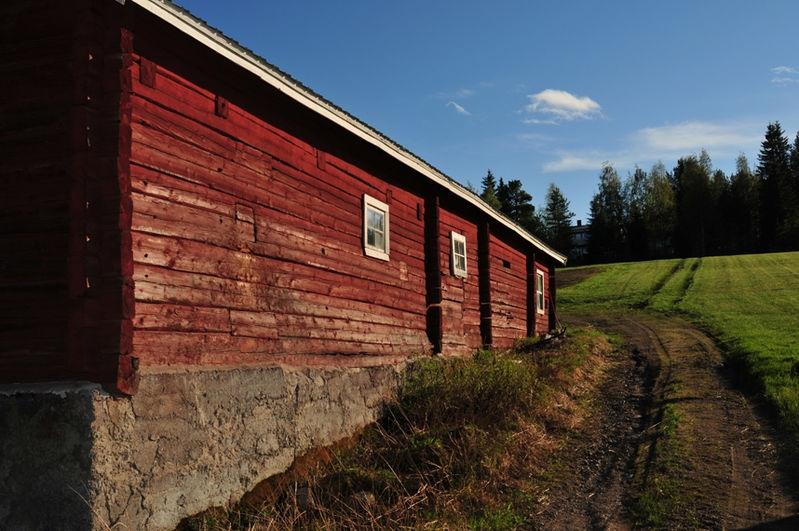 Old barn in Korpilombolo, Sweden