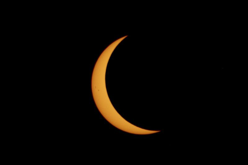 Waning Phase of Solar Eclipse