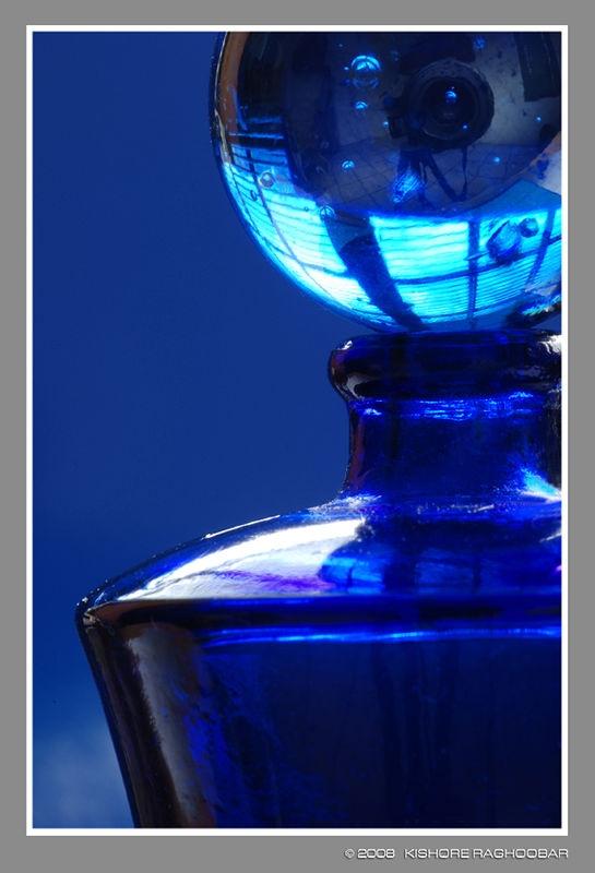 Miniture Blue Glass