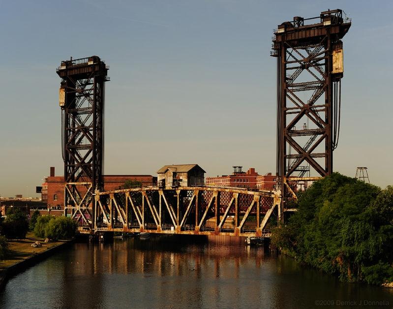 Chicago South Branch River Bridge