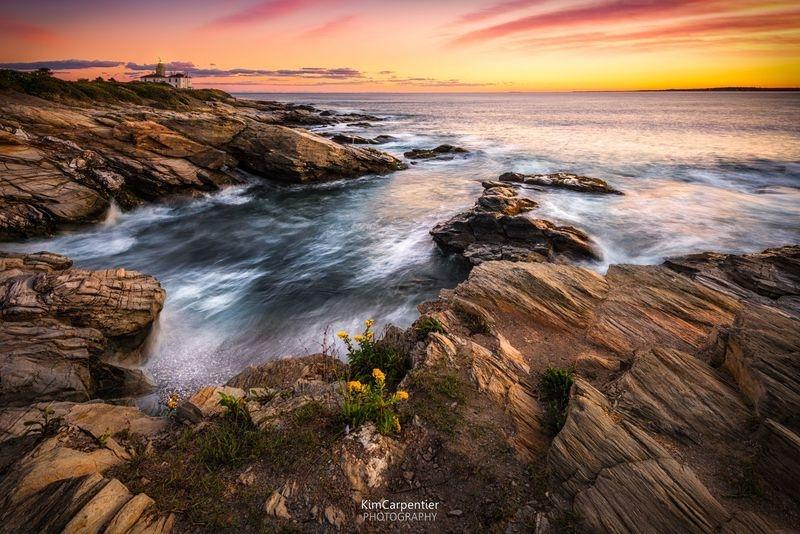 """""""Beavertail Lighthouse in Autumn's Light"""""""