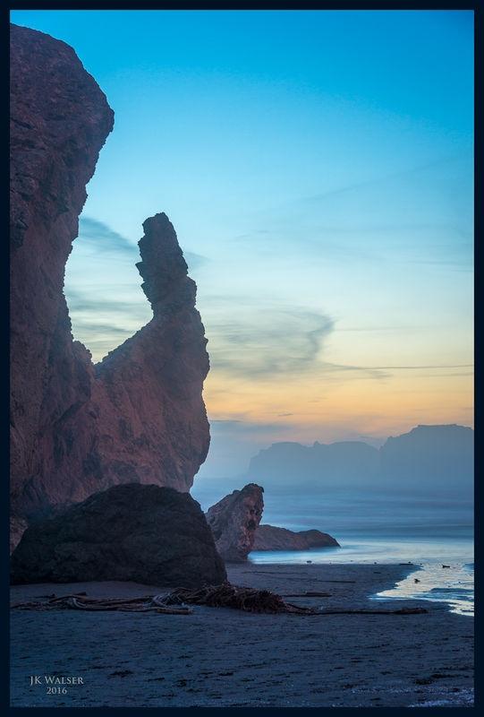 Sundown on the Rocks