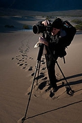 Nikonian Rick Hulbert shooting the Dunes in Death Valley