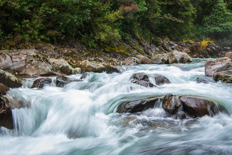 Misty water in The Rapids