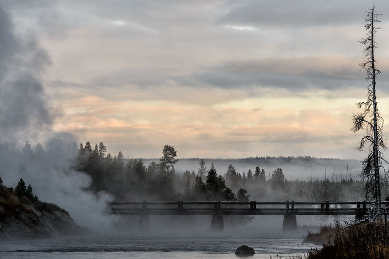 Sunrise at Midway Geyser Basin