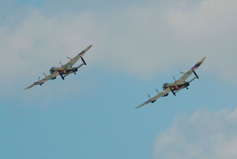 Two Lancasters Southport airshow 2014