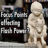 Does moving the focus points affect flash power?
