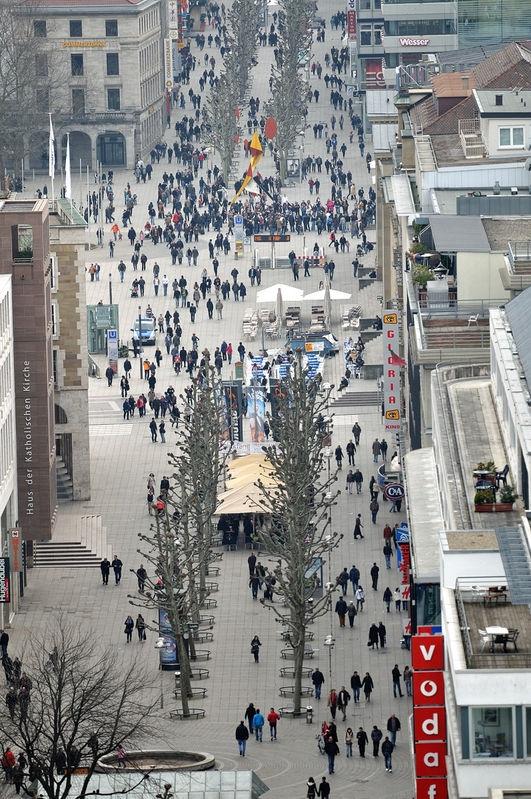 Königsstrasse vom Hbf-Turm