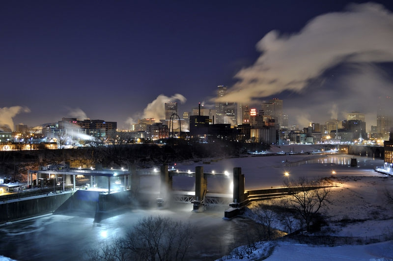 Minneapolis at 14 Below Zero