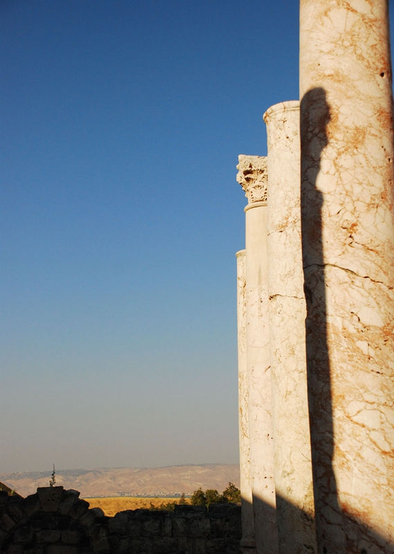Roman columns at Beit Shean, Israel