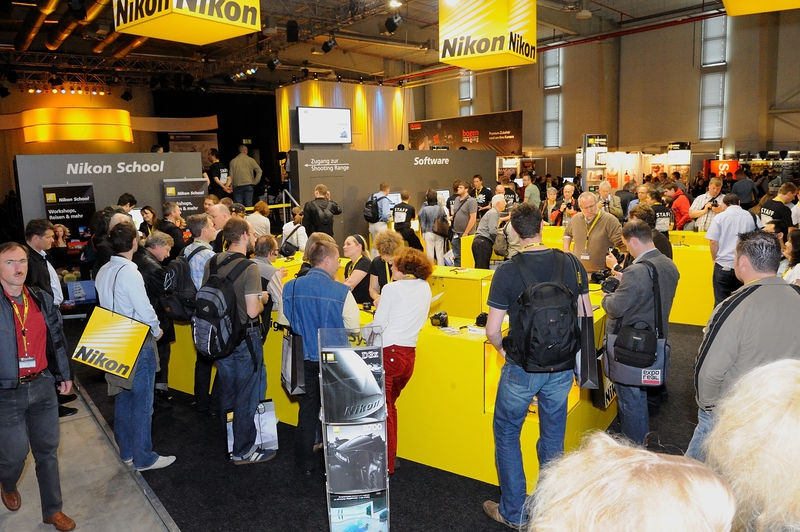 Nikon Booth at the Nikon Solutions Expo 2009, Cologne, Germany