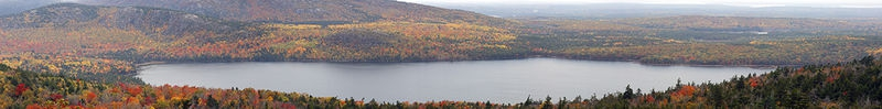 Eagle Lake Panorama From Cadillac Mountain, Acadia National Park
