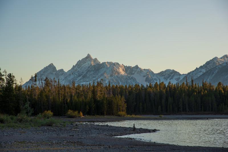 Jackson Lake, Wyoming Grand Teton National Park at Sunset