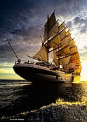 "Winner September Travel Theme: ""Transportation""  ""Royal Clipper 6"" D700 with 17-35 f/2.8 Zoom @ 22 mm. f/9, 1/200, ISO 200"