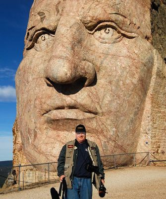 Pete Wilson at the Crazy Horse Monument
